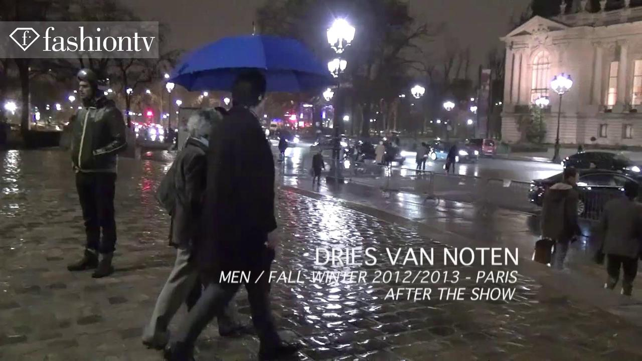 After the Dries Van Noten Men's Show Fall 2012, Paris | FTV