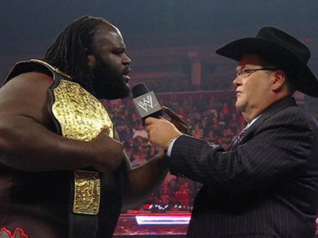 WWE Monday Night Raw _ WWE Hall of Famer Jim Ross Interviews World Heavyweight Champion Mark Henry