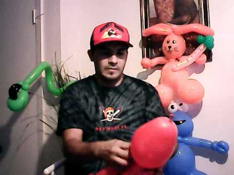 how to make balloon elmo... elmo de plaza sesamo globoflexia | PopScreen