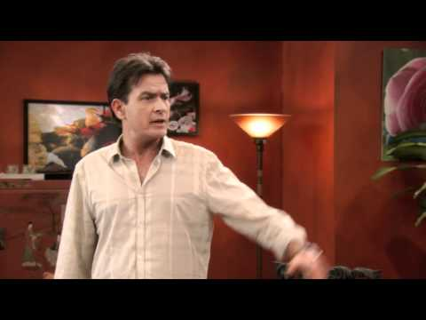 Why is Charlie Sheen taking off his pants? | PopScreen