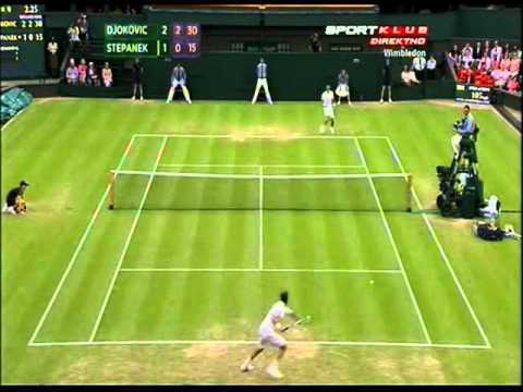 Novak Djokovic vs Radek Stepanek - Amazing 4th set (Wimbledon 2012 - 3rd Round) | PopScreen