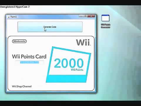 Free wii points codes generator download