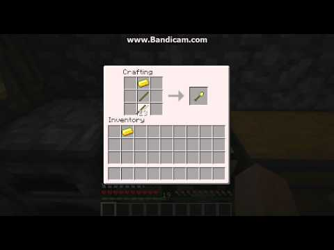 how to make a shovel in minecraft pe