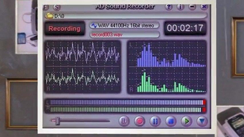 AD Sound Recorder поддерживает три вида форматов звуковых файлов - WAV.