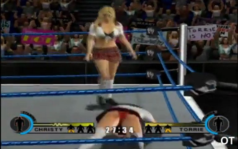 WWE Day Of Reckoning 2 - Christy Hemme vs Torrie Wilson in A Bra And Panties Match