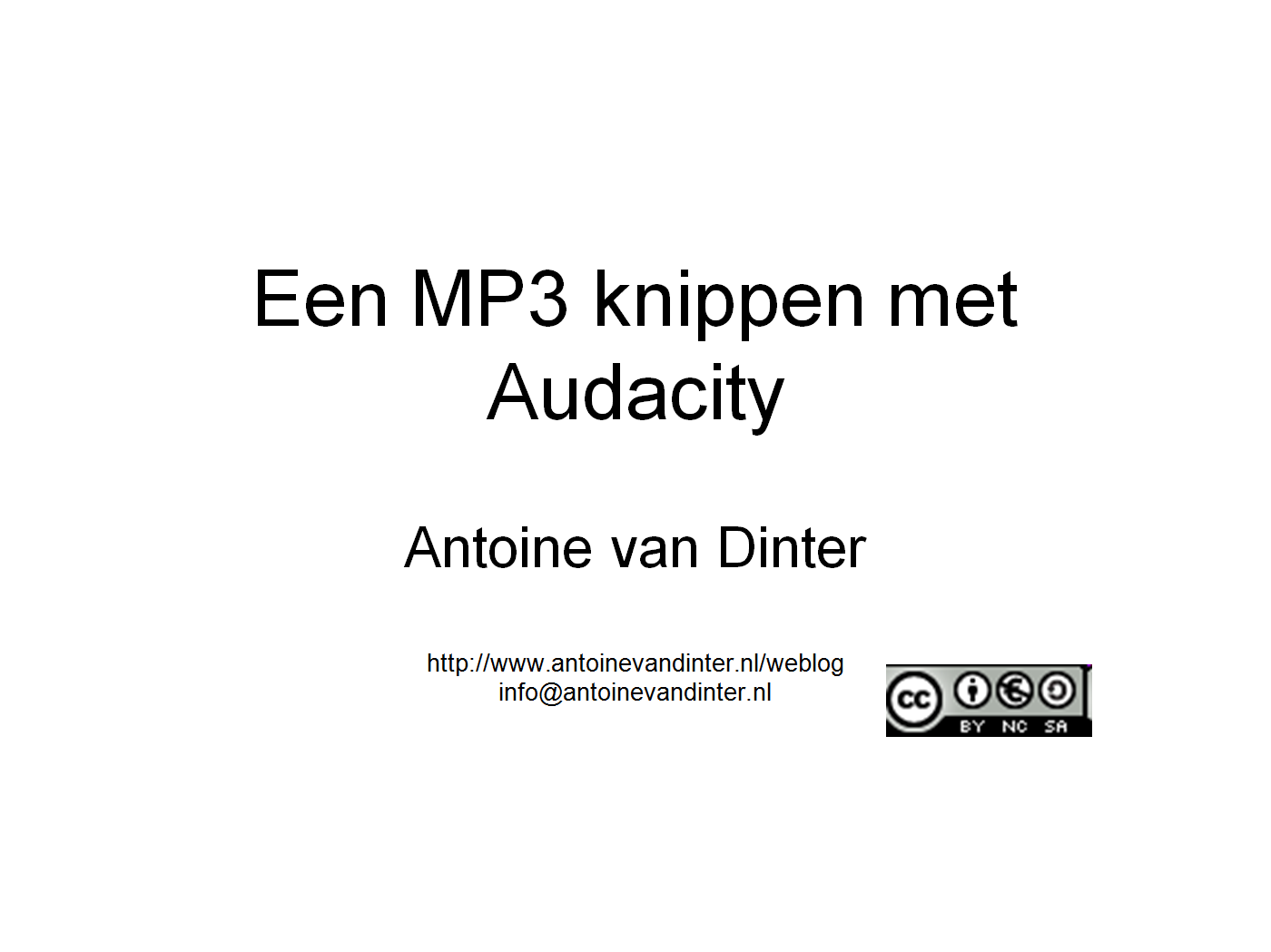 MP3 knippen met Audacity | PopScreen