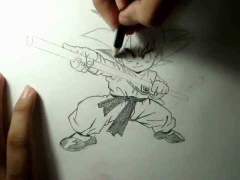 Como desenhar Goku Criança - tutorial mangá - How to draw Kid Goku - tutorial manga - | PopScreen