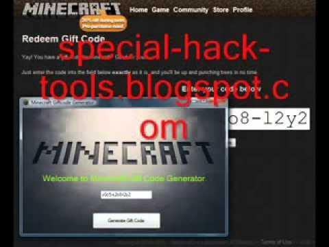 Free Minecraft Gift Code Generator Minecraft Free Premium Account Codes-2012 | PopScreen