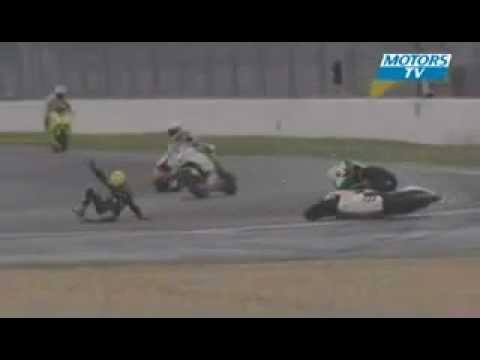 MotoGp Kecelakaan Funny Crash - YouTube.flv | PopScreen