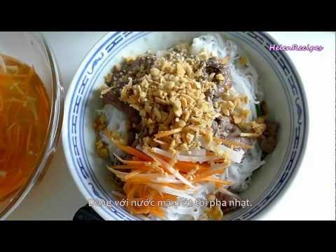 Vietnamese beef noodle salad (Bun bo Nam bo / Bun bo xao) | PopScreen