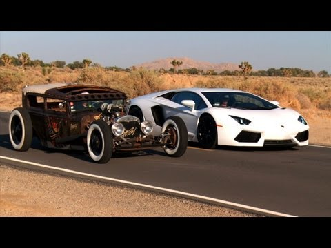 Rat Rod vs Lamborghini Aventador! Roadkill Episode 5 | PopScreen