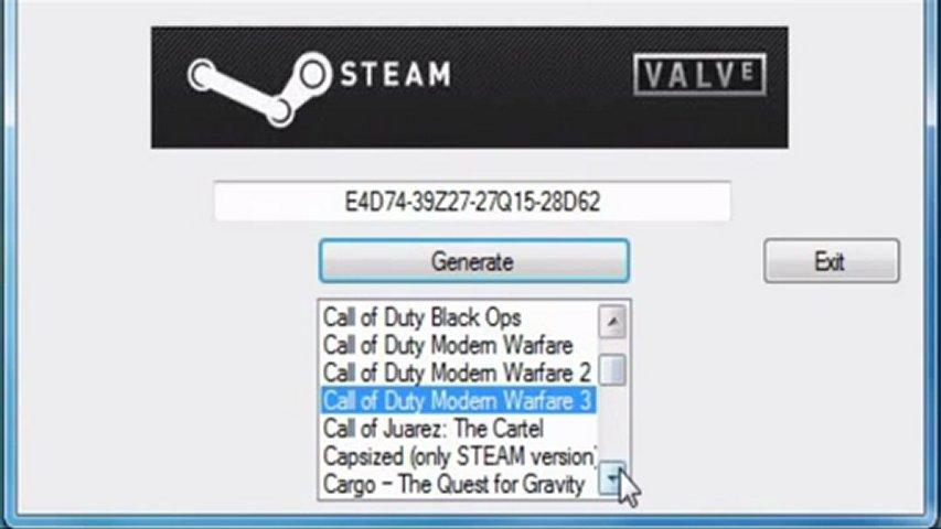 cd key generator for steam games