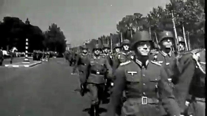 Défilés de soldats allemands de la seconde guerre mondiale (montage