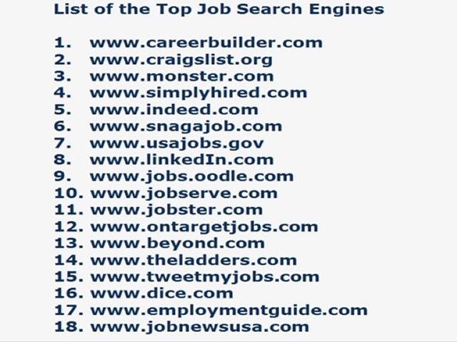 top job seeking sites