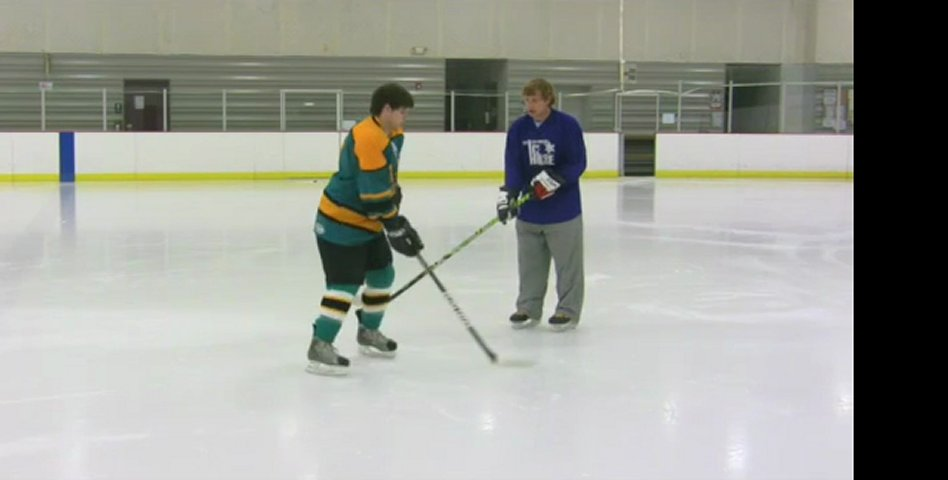 How to Do a Hockey Stop on Ice Skates | PopScreen