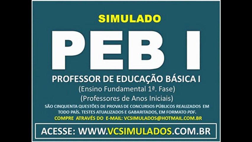 PEB I - PROFESSOR DE EDUCAÇÃO BÁSICA I - SIMULADO 2011 | PopScreen