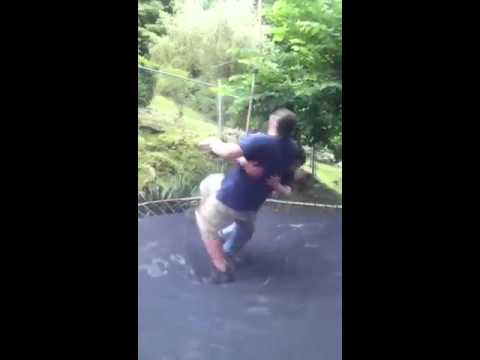 Fat kid gets hit in the nuts then speared | PopScreen