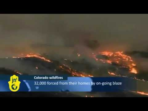 Fire Rages in Colorado Springs US Air Force, Military Combat Wildfires. | PopScreen