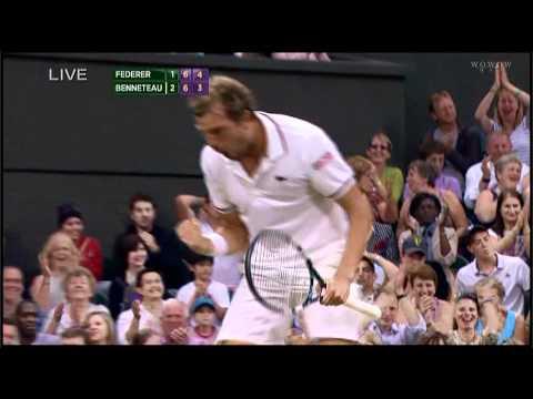 WB 3R Federer v Benneteau set4 TIEBREAK(new) | PopScreen