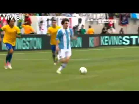 Amazing Goal Lionel Messi! Argentina vs Brazil 4-3, 9-6-2012 (HD) | PopScreen