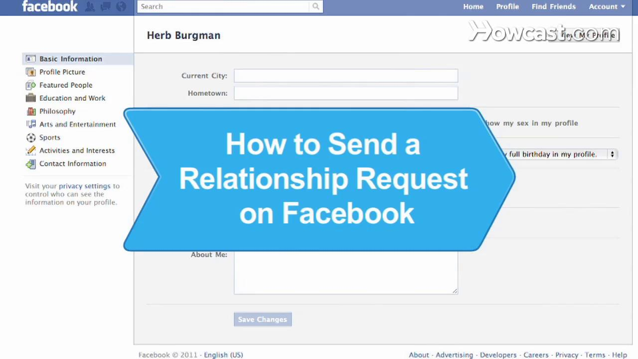 how to send a relationship request on facebook 2014