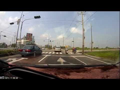 Motorcycle and car crash Hit and flip over