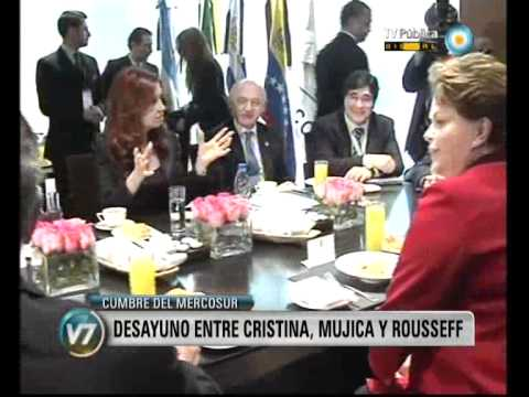 Visión Siete: Cumbre del Mercosur: Desayuno entre Cristina, Mujica y Rousseff | PopScreen