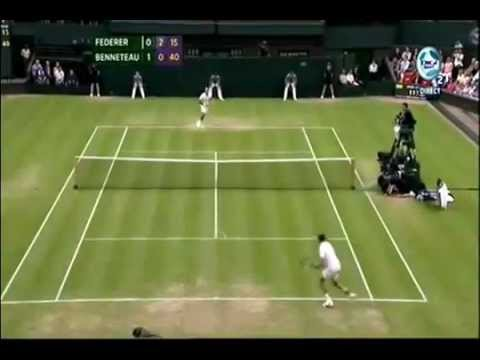 Roger Federer vs Julien Benneteau - Wimbledon 2012 | PopScreen