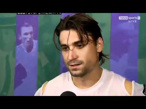 David Ferrer Interview winning vs Juan Martin del Potro - Wimbledon 2012 03/07/2012 Round 4 | PopScreen