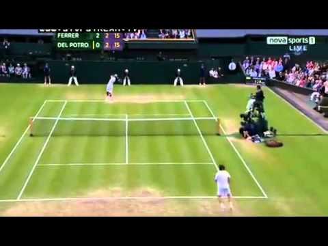 David Ferrer v Juan Martin del Potro - Wimbledon 2012 | PopScreen