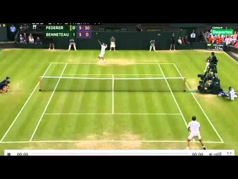 Roger Federer loses Second set vs Julien Benneteau Highlights wimbledon 2012 29/06/2012 | PopScreen