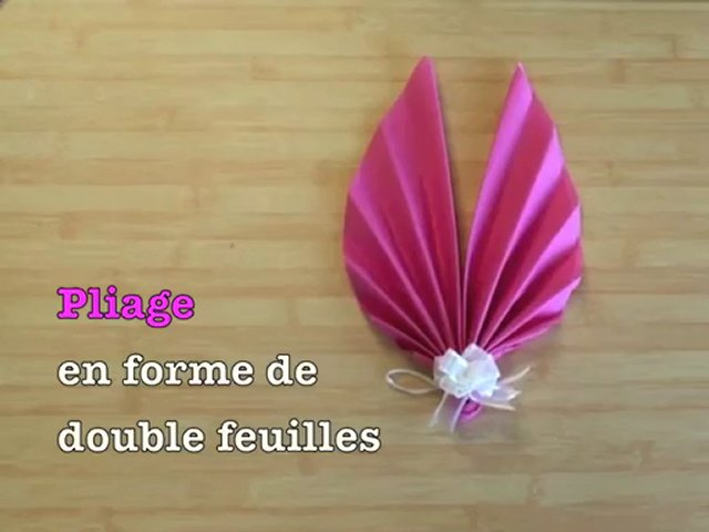 Wedding planner comment plier les serviettes en papier - Pliage de serviette original ...