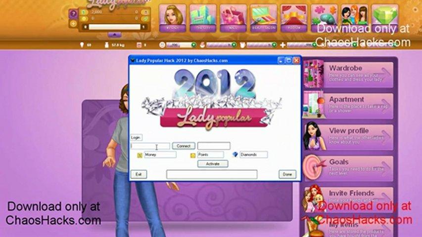 Lady Popular Hack 2012 [Money] [Points] [Diamonds] | PopScreen