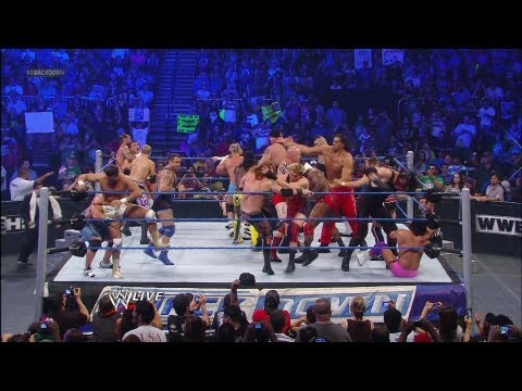 Zack Ryder wins The Great American Bash 20 Man Battle Royal - WWE Smackdown 7/3/12