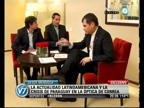 Rafael Correa La democracia se basa en la legalidad y en la legitimidad UNASUR MERCOSUR | PopScreen