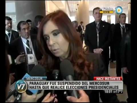 Visión Siete: Cumbre del Mercosur: Suspenden a Paraguay hasta que haya elecciones | PopScreen