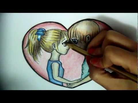 COMO DIBUJAR UNA PAREJA ENAMORADA ESTILO ANIME (Dibujo de amor) | PopScreen
