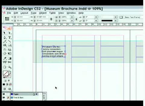 InDesign CS2 - Setting up Text Links Across Multiple Frames ...