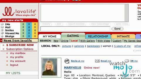 dating sites lavalife Every dating site has its own spin on the dating profile format in this series, i'll take a look at some of the different profile formats and how you can write your best profile for that particular service.