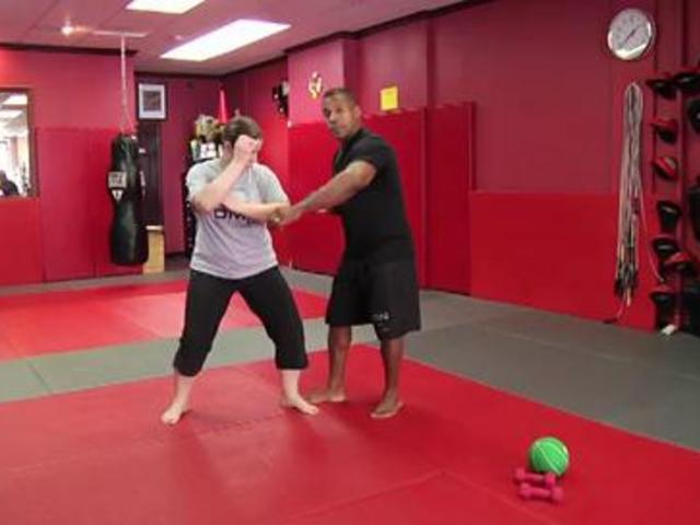 Self-Defense Workout: Jam Punch Into Elbow | PopScreen