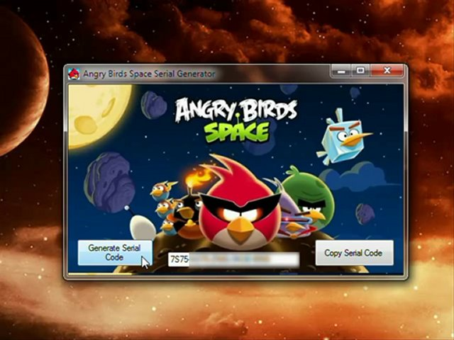 Crack Key Angry Birds Space