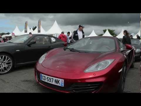 Volcano Red Mclaren MP4-12C walkaround | PopScreen