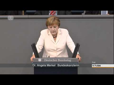 Dr. Angela Merkel - Regierungserklärung zum Fiskalvertrag und Europäischer Stabilitätsmechanismus | PopScreen