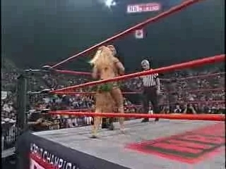WCW - Major Gunns vs Miss Hancock - Rip of the Camouflage | PopScreen