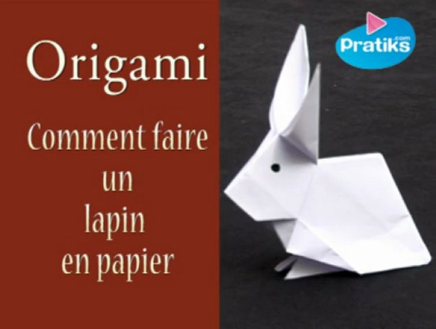 comment faire un lapin en papier origami popscreen. Black Bedroom Furniture Sets. Home Design Ideas