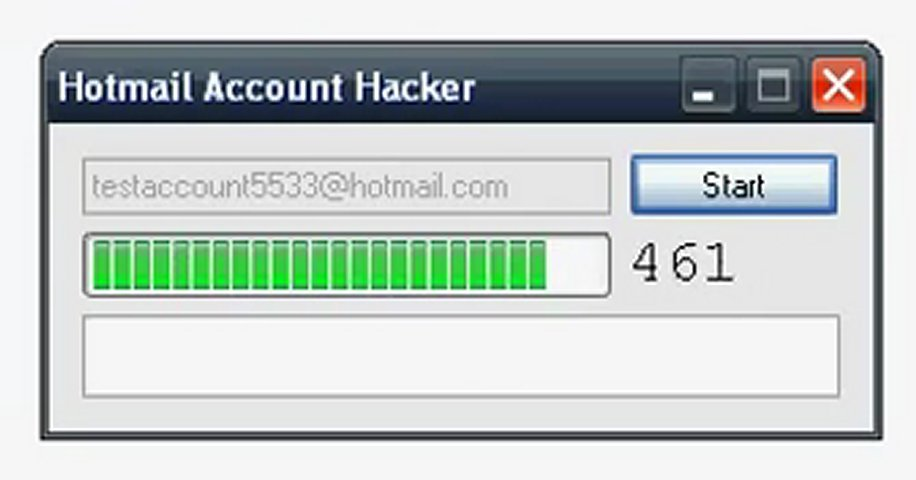 hotmail password breaker: