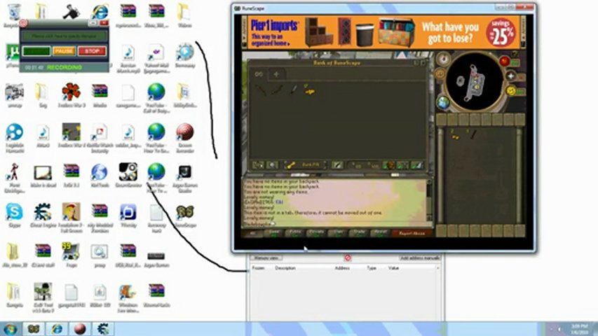 How to use cheat engine 5.6.1 to hack money on runescape | PopScreen