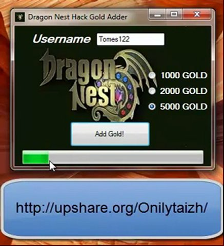 Cheat Dragon Nest Gold 2013 Ina | HikeTheGap.com
