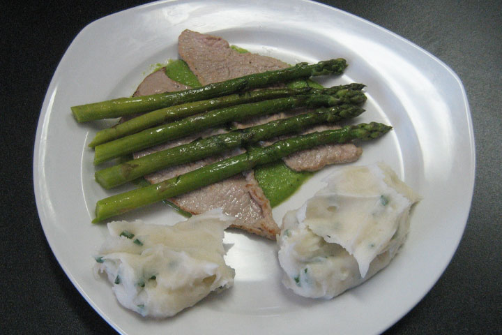 Veal Scallopine With Asparagus Recipes — Dishmaps