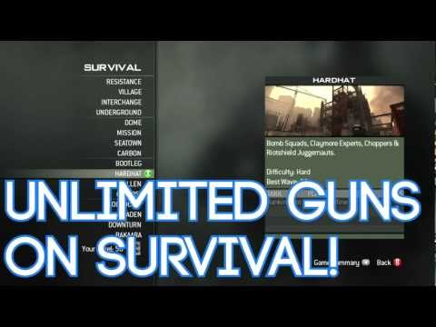 MW3 Unlimited Gun Glitch Survival Mode! | PopScreen